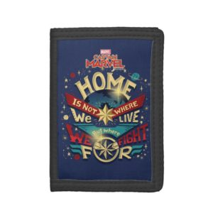Captain Marvel | Home Is Not Where We Live Trifold Wallet