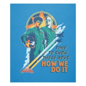 "Captain Marvel | Maria & Carol ""How We Do It"" Fleece Blanket"