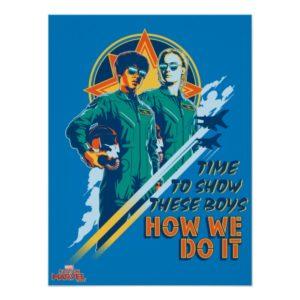 "Captain Marvel   Maria & Carol ""How We Do It"" Poster"