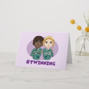 Captain Marvel | Maria & Carol #Twinning Cartoon Card