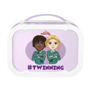 Captain Marvel   Maria & Carol #Twinning Cartoon Lunch Box