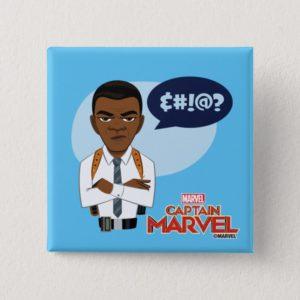 Captain Marvel | Nick Fury Cartoon Button