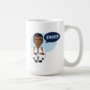 Captain Marvel   Nick Fury Cartoon Coffee Mug