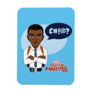 Captain Marvel   Nick Fury Cartoon Magnet
