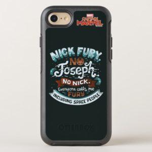 Captain Marvel | Nick Fury Typography OtterBox iPhone Case