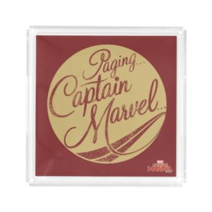 Captain Marvel | Paging Captain Marvel Emblem Acrylic Tray