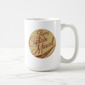 Captain Marvel   Paging Captain Marvel Emblem Coffee Mug