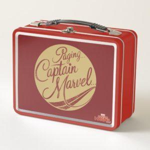 Captain Marvel | Paging Captain Marvel Emblem Metal Lunch Box