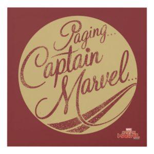 Captain Marvel | Paging Captain Marvel Emblem Panel Wall Art
