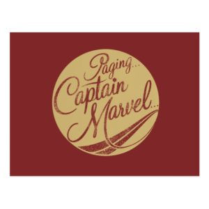 Captain Marvel | Paging Captain Marvel Emblem Postcard