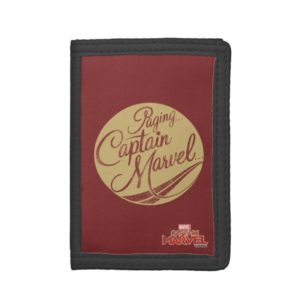 Captain Marvel | Paging Captain Marvel Emblem Trifold Wallet
