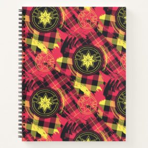 Captain Marvel | Plaid Logo Pattern Notebook