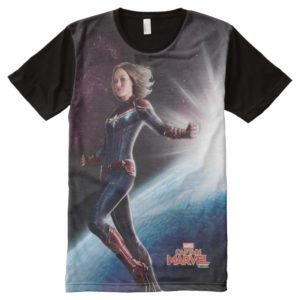 Captain Marvel | Protecting The Planet All-Over-Print Shirt