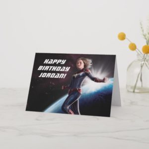 Captain Marvel   Protecting The Planet Card