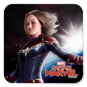 Captain Marvel   Protecting The Planet Square Sticker