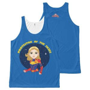 Captain Marvel | Protector Of The Skies Cartoon All-Over-Print Tank Top