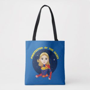 Captain Marvel | Protector Of The Skies Cartoon Tote Bag