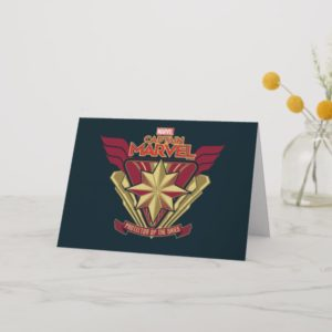 Captain Marvel | Protector Of The Skies Star Badge Card