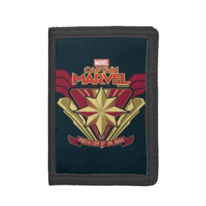 Captain Marvel | Protector Of The Skies Star Badge Trifold Wallet