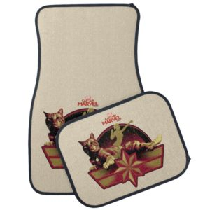 Captain Marvel | Reclining Goose Badge Car Floor Mat