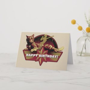 Captain Marvel | Reclining Goose Badge Card
