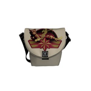Captain Marvel | Reclining Goose Badge Courier Bag
