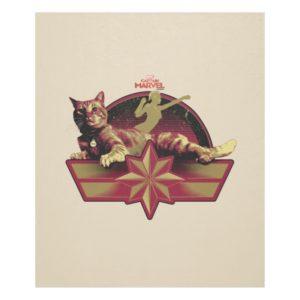 Captain Marvel | Reclining Goose Badge Fleece Blanket