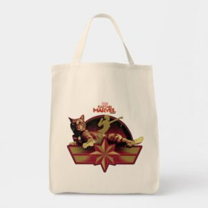 Captain Marvel | Reclining Goose Badge Tote Bag