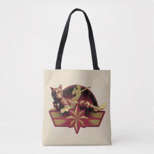 Captain Marvel | Reclining Goose Badge Tote Bag