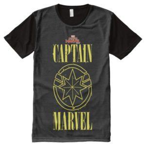 Captain Marvel | Retro Captain Marvel Logo All-Over-Print Shirt