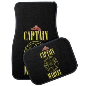 Captain Marvel | Retro Captain Marvel Logo Car Floor Mat
