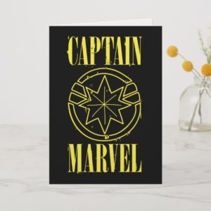 Captain Marvel | Retro Captain Marvel Logo Card