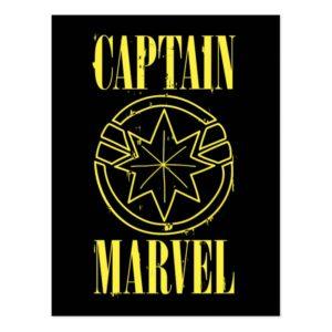 Captain Marvel | Retro Captain Marvel Logo Postcard