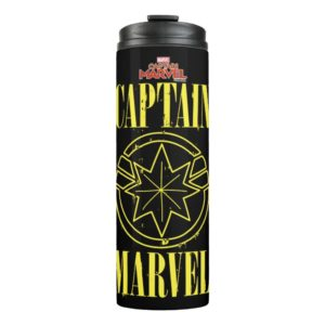Captain Marvel | Retro Captain Marvel Logo Thermal Tumbler