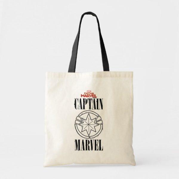Captain Marvel | Retro Captain Marvel Logo Tote Bag