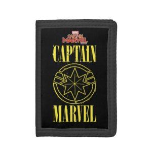 Captain Marvel   Retro Captain Marvel Logo Trifold Wallet