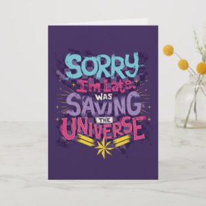 Captain Marvel | Saving The Universe Typography Card