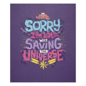 Captain Marvel | Saving The Universe Typography Fleece Blanket