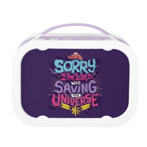 Captain Marvel | Saving The Universe Typography Lunch Box