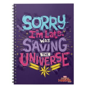 Captain Marvel | Saving The Universe Typography Notebook