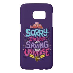 Captain Marvel | Saving The Universe Typography Samsung Galaxy S7 Case