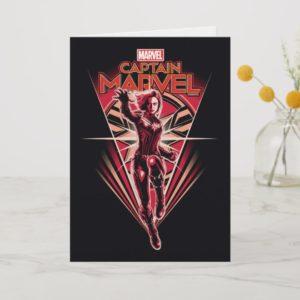 Captain Marvel | Shining Captain Marvel Badge Card