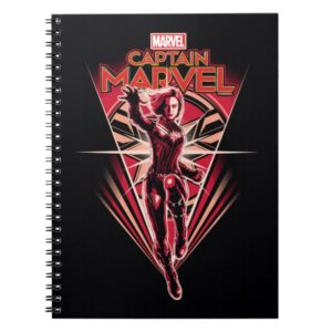 Captain Marvel | Shining Captain Marvel Badge Notebook