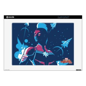 "Captain Marvel | Silhouette Pose With Jets 15"" Laptop Decal"