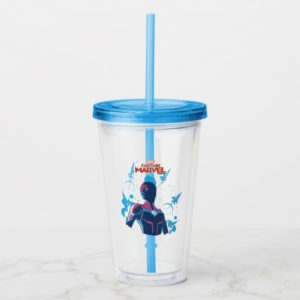 Captain Marvel | Silhouette Pose With Jets Acrylic Tumbler