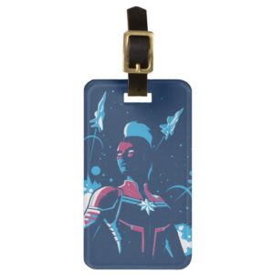 Captain Marvel | Silhouette Pose With Jets Bag Tag