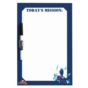 Captain Marvel | Silhouette Pose With Jets Dry Erase Board