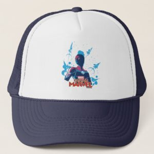 Captain Marvel | Silhouette Pose With Jets Trucker Hat
