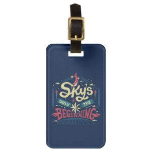 """Captain Marvel   """"Sky's Only The Beginning"""" Type Bag Tag"""