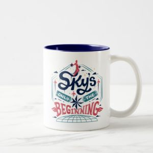 "Captain Marvel | ""Sky's Only The Beginning"" Type Two-Tone Coffee Mug"